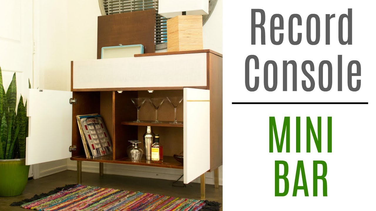 How to Build a Record Console / Minibar - Woodworking Build - YouTube