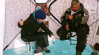 балда против мух!Байкальская зимняя рыбалка на окуня.