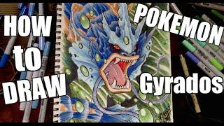 How To Draw Pokemon : GYRADOS !!
