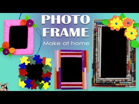 PHOTO FRAME Best out of waste #DIY #CRAFT Home decoration ideas