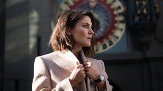 Annina Frey wears OMEGA's tribute to Switzerland