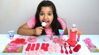 حلويات وردية روعة ! ! Pink Food Mukbang
