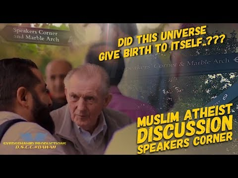 DID THIS UNIVERSE GIVE BIRTH TO ITSELF ? BR ABBAS v ATHEIST | SPEAKERS CORNER |