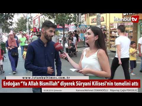 """Erdoğan """"Ya Allah Bismillah"""" diyerek Süryani Kilisesi'nin temelini attı"""