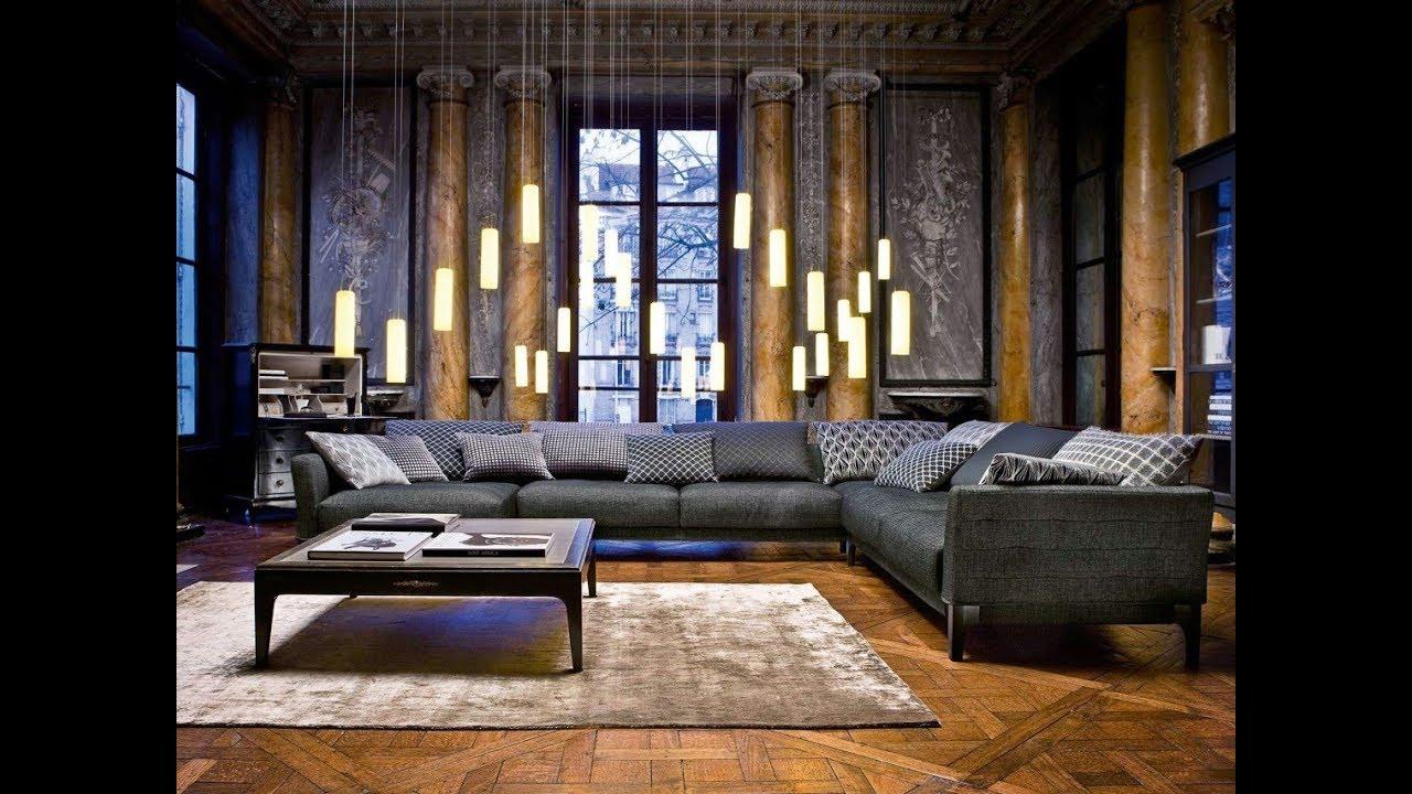 Gray Velvet Sectional Sofa Design Ideas - YouTube