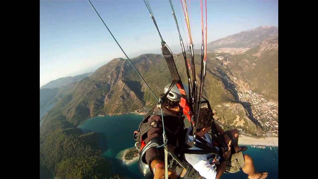 Paragliding accident in Turkey