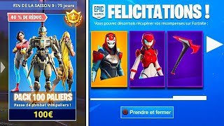 🎁 I BUY THE 100 PALIERS OF SAISON PAS 9 ON FORTNITE!