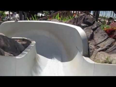 Grand Wailea - Volcano Waterslide #1 - Hawaii Big Water slide in Maui