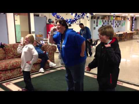 George Buck Elementary Club Director, Marianne, Gets Her Groove On