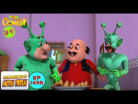 Alien Calling Machine - Motu Patlu in Hindi - 3D Animated cartoon series for kids - As on Nick thumbnail