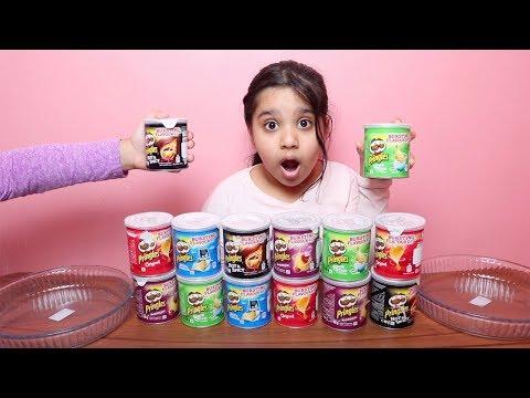 تحدي لا تختار برنجلز السلايم الخاطئ !!! Don't Choose the Wrong Pringles Slime Challenge