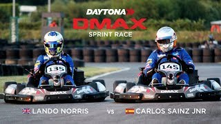 LANDO NORRIS VS CARLOS  SAINZ IN EPIC GO KARTING BATTLE!!