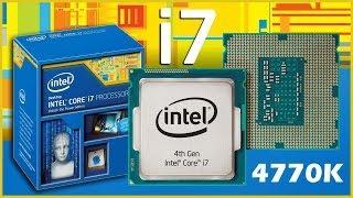 Intel Core I7 4770K распаковка процессора.