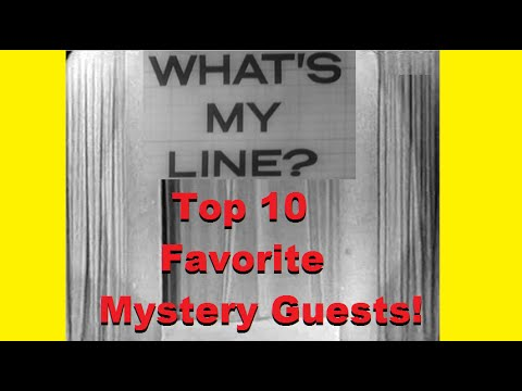 What's My Line? - Top 10 Favorite Mystery Guests! [CLIPS VIDEO]