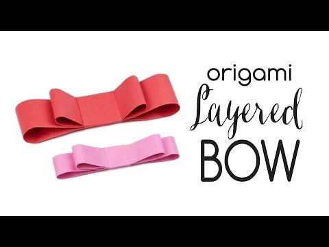 Origami Layered Bow Tutorial 🎀 DIY Ribbon 🎀 Paper Kawaii
