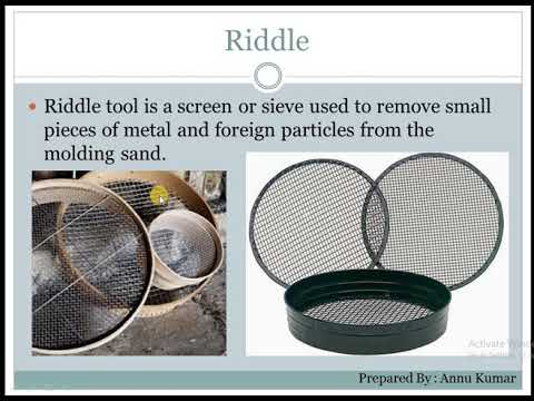 Tools Used In Foundry Shop  English