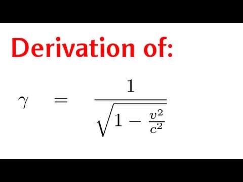 Simple Derivation of the Lorentz Factor (γ)