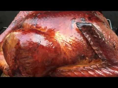 Weber kettle smoked turkey - Brined injected Apple wood smoked - Perfect Thanksgiving Turkey