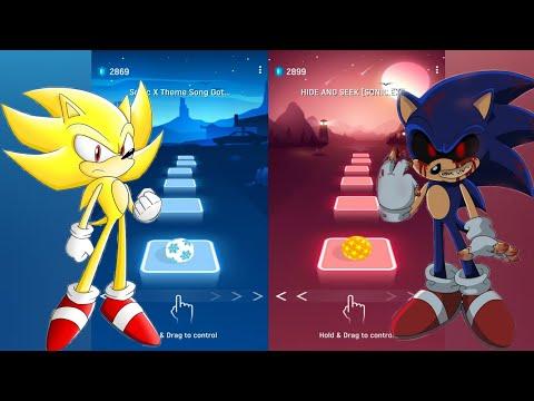 Download Super Sonic Vs Sonic Exe - Tiles Hop
