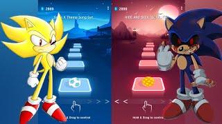 Super Sonic Vs Sonic Exe - Tiles Hop