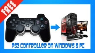 how to use the ps3 controller on a windows 8 pc works with xp vista 7