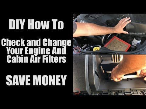 DIY How To Check And Change Your Air Filters For Your Engine and Cabin SAVE MONEY