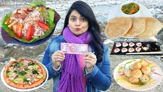 Living on Rs 2000 for 24 HOURS Challenge | MANALI Food Challenge