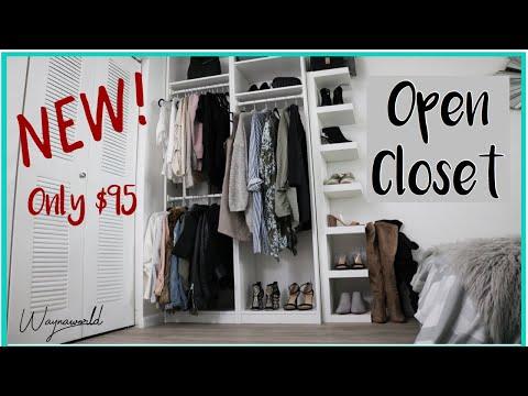 My Open Closet/Wardrobe From IKEA | PAX Closet System For Cheap