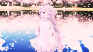 [MMD]TDA Lavender Cherry Miku By Fujiwara-no-Moko/hand in hand
