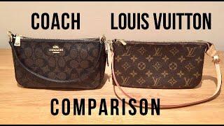 Coach Top Handle Pouch vs LV Pochette Accessoires | Reveal ...