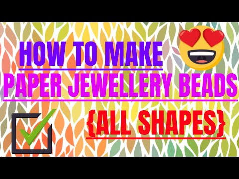 #paperbeads#jewellerymaking#artandcraft    Make your paper beads at home (recycle)
