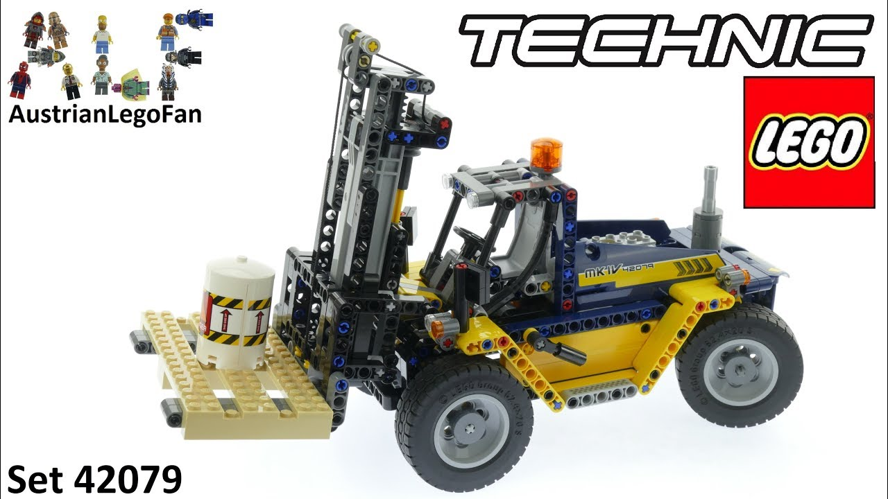 lego technic 42079 heavy duty forklift lego speed build review