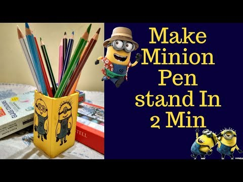 DIY Minion Pen Stand with Mosquito Coil Box | Minion Pen Holder