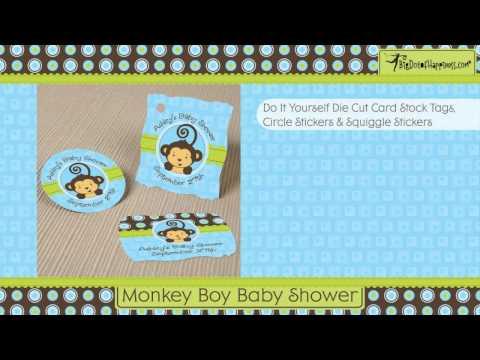 Monkey Boy Baby Shower Theme