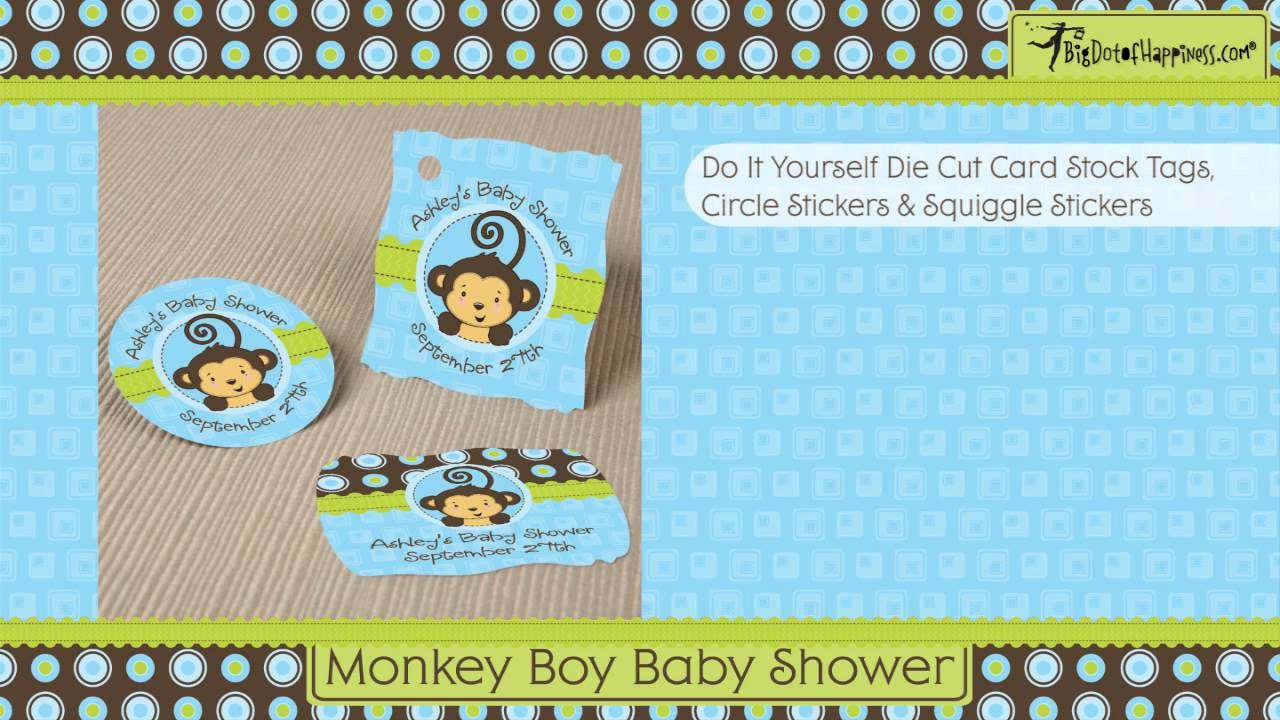 Monkey Boy Baby Shower Theme - YouTube