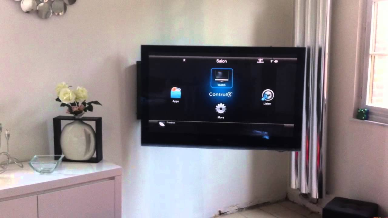 Meuble Tv Support Pivotant Support Tv Motorisé Plasma Control4 Domotique Www.avmd
