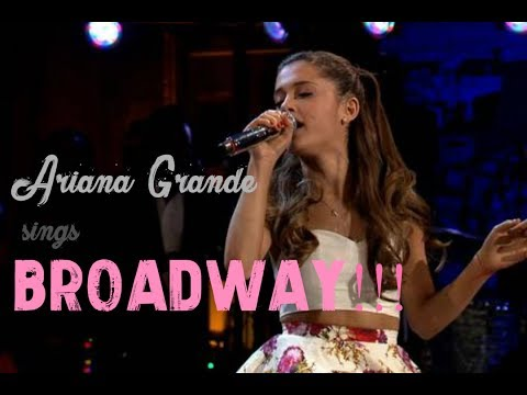 Ariana Grande's LOVE for Musical Theatre!