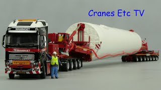 WSI Mammoet Mega Windmill Transporter By Cranes Etc TV