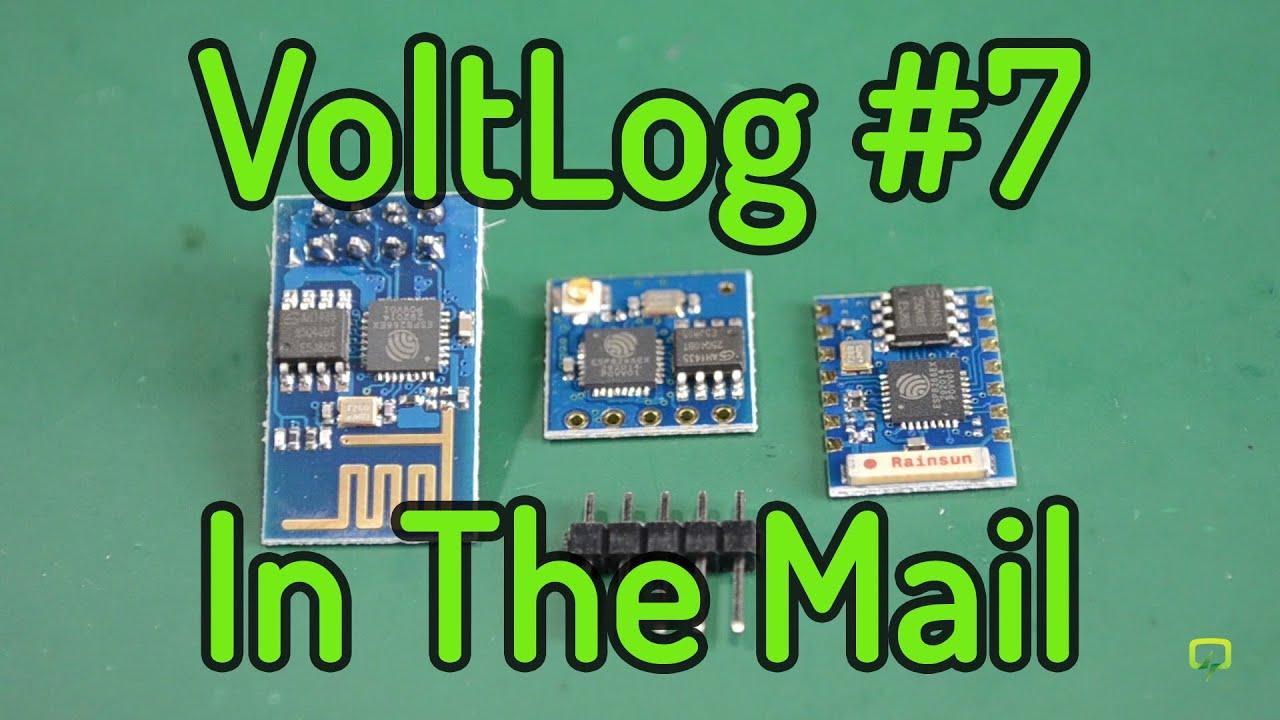 VoltLog #7 - InTheMail: ESP8266, Breadboard, 2 4` TFT by VoltLog