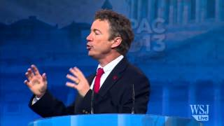 Watch highlights from republican senator rand paul's speech at the 2013 conservative political action conference. photo:getty images. don't miss a wsj video,...