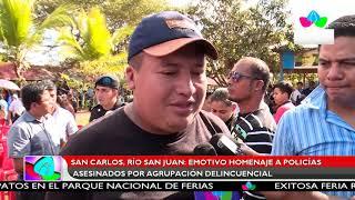 Multinoticias | Emotivo homenaje a policías asesinados por agrupaciones delincuenciales