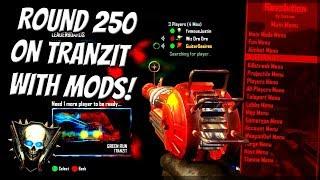 Black Ops 2 Zombies TRANZIT ROUND 250 MOD MENU TROLLING! (Black Ops 2 Funny Trolling) Bo2 Mods