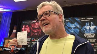 Freddie Roach looking to win 9 grand off of bet for a Postol KO win over Crawford
