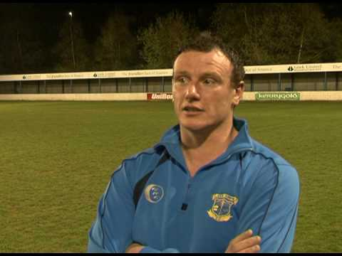 Leek Town Manager Wayne Johnson after Leek Town 2-...