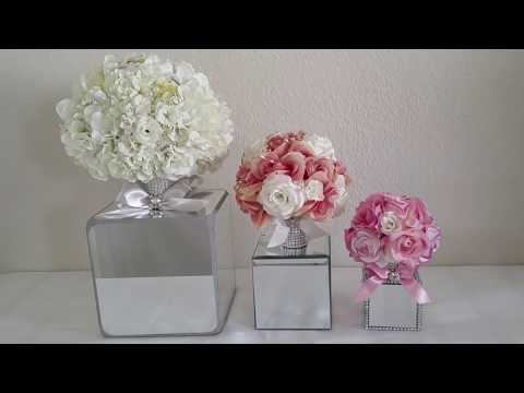 DIY| BLING GLAM MIRROR CENTERPIECE / WEDDINGS COLLECTION 2017
