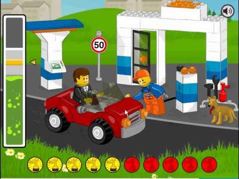 Lego Gas Station Lego Stacja Paliw Youtube