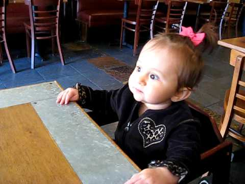 Baby at a restaurant