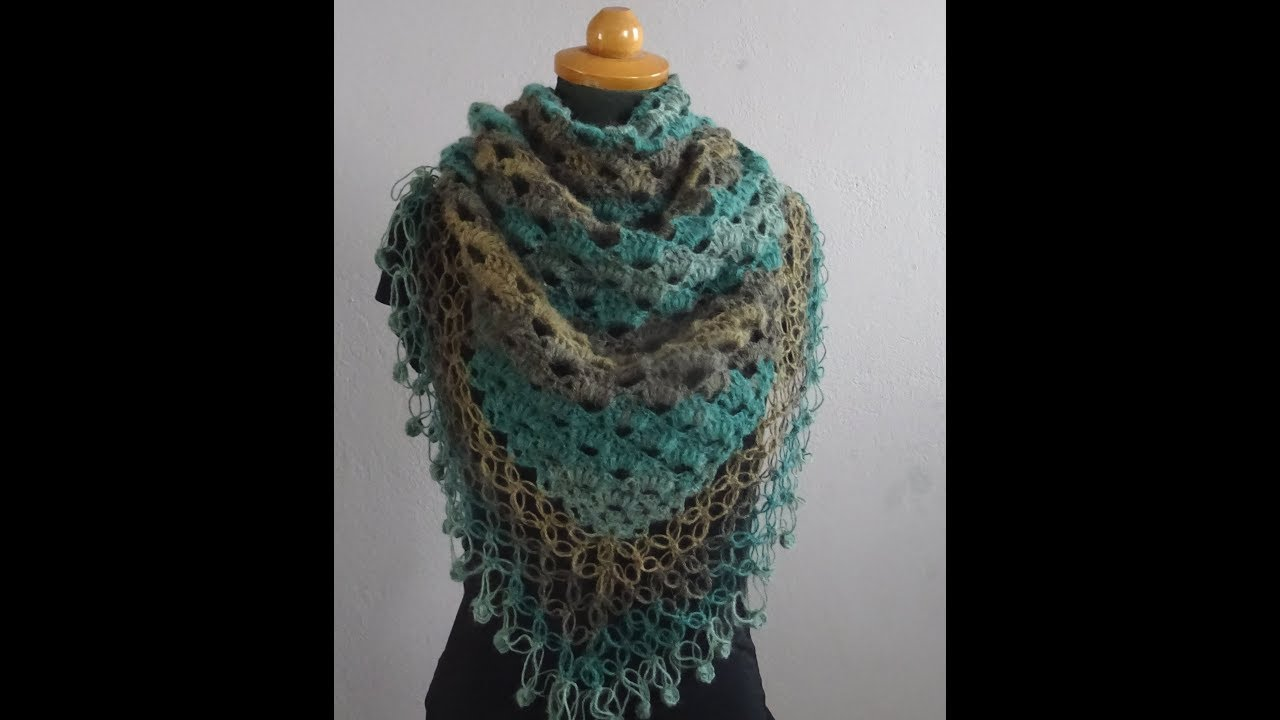 Crochet Shawl Nr 17  Very Pretty And Easy Crochet Shawl