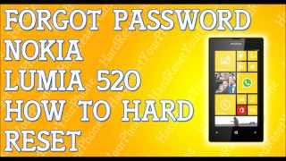 Forgot Password Nokia Lumia 520 How To Hard Reset