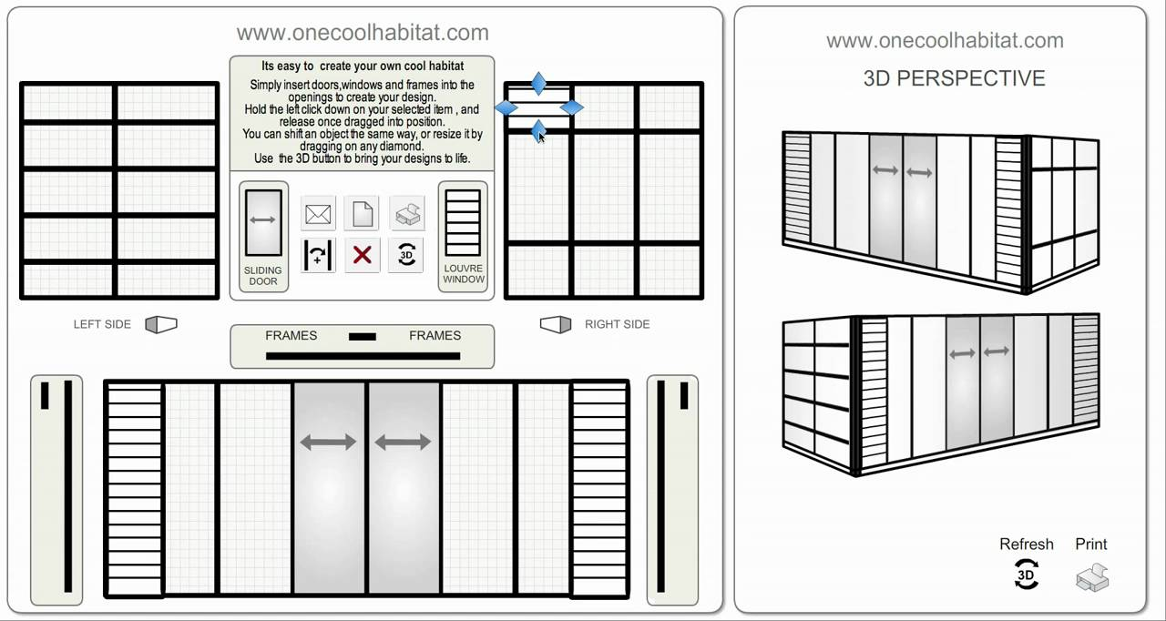 Prefab shipping container home design tool youtube for Home design tool